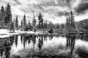 British Columbia Photo Originals - This is British Columbia No.40 - Callaghan Lake Reflects the Winter by Paul W Sharpe Aka Wizard of Wonders