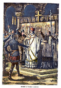 Martyr Metal Prints - Thomas À Becket (1118?-1170) Metal Print by Granger