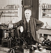 Thomas A. Edison 1847-1931, In His West Print by Everett