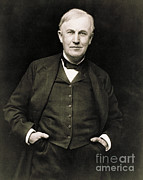 Thomas Alva Edison Prints - Thomas Edison, American Inventor Print by Photo Researchers