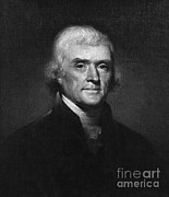 Louisiana Purchase Framed Prints - Thomas Jefferson, 3rd American President Framed Print by Omikron