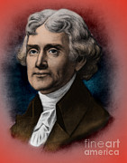 Louisiana Purchase Framed Prints - Thomas Jefferson, 3rd American President Framed Print by Photo Researchers