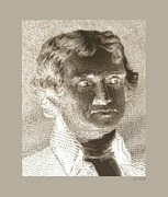 4th July Digital Art - THOMAS JEFFERSON in NEGATIVE by Rob Hans