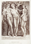 Putto Prints - Three Graces Print by Granger