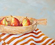 Pear Art Painting Prints - Three Pears Print by Catherine Martha Holmes