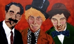 Marx Paintings - Threes Comedy by Bill Manson