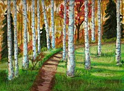 Birch Trees Originals - Through the Birch Trees by Ray Ratzlaff