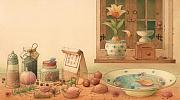 Food  Drawings Prints - Thumbelina01 Print by Kestutis Kasparavicius