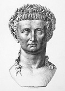 Statue Portrait Photo Prints - Tiberius (42 B.c.- 37 A.d.) Print by Granger