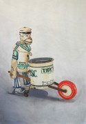 Antique Drawings Originals - Tidy Tim by Glenda Zuckerman