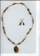 Citrine Jewelry - Tiger eye citrine by Margaret Brackley