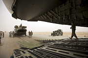 Iraq Prints - Tikrit, Iraq - A Ch-47 Chinook Print by Terry Moore