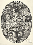 President Barack Obama Drawings Framed Prints - Time For Change Framed Print by Omoro Rahim