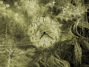 Clock Hands Digital Art Prints - Time Piece II Print by East Coast Barrier Islands Betsy A Cutler