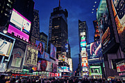 Night Scene Prints - Times Square Print by Benjamin Matthijs