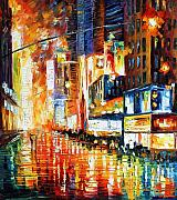 Building Painting Originals - Times Square by Leonid Afremov