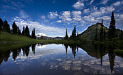 Mountain Reflection Prints - Tipsoo Dawn Print by Mike Reid
