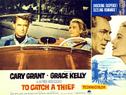 1955 Movies Photo Framed Prints - To Catch A Thief, Poster Art, Cary Framed Print by Everett