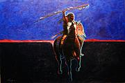 Contemporary Native Art Paintings - To Protect and Serve by Joe  Triano