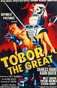 1950s Movies Photo Posters - Tobor The Great, 1954 Poster by Everett
