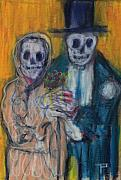 Skeletons Drawings - Together Forever by Todd  Peterson