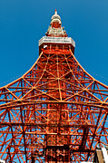 Observer Prints - Tokyo tower faces blue sky Print by Ulrich Schade
