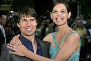 Katie Holmes Framed Prints - Tom Cruise, Katie Holmes At Arrivals Framed Print by Everett