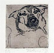 Printmaking Mixed Media - Tondog by Kate Padberg