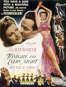 Tonight Framed Prints - Tonight And Every Night, Rita Hayworth Framed Print by Everett
