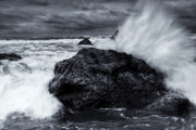 Tides Photo Prints - Too Close for Comfort Print by Mike  Dawson
