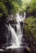Cascading Water Prints - Torc Waterfall, Killarney, Co Kerry Print by The Irish Image Collection