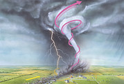 Wind Direction Posters - Tornado Dynamics Poster by Gary Hincks