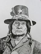 Comanche Paintings - Tosawi  Comanche Chief by Stan Hamilton