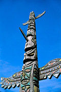 Handcarved Art - Totem Pole by Greg Vaughn - Printscapes
