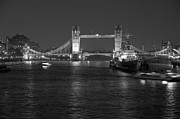 London England  Pyrography - Tower Bridge by Night by Sean Foreman