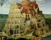 Masonry Framed Prints - Tower of Babel Framed Print by Pieter the Elder Bruegel