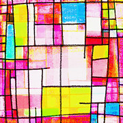Abstract Geometric Art Prints - Town Print by Setsiri Silapasuwanchai