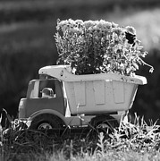 Hard Hats Prints - Toy Truck Planter Print by Gordon Wood