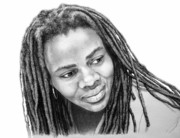 Singer Drawings - Tracy Chapman by Guillermo Contreras