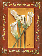 Patterns Prints - Traditional Lily 2 Print by Debbie DeWitt