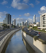 Tel Aviv Photos - Traffic Flowing in and Out of Downtown Tel Aviv by Noam Armonn