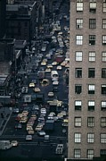 Taxis Prints - Traffic In New York City. View Print by Everett