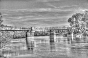 Arkansas Art - Train Bridge Over Black River at Black Rock Arkansas by Geary Barr