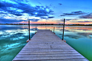 Northern Colorado Metal Prints - Tranquil Dock Metal Print by Scott Mahon
