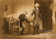 Benedict Framed Prints - Treason Of Benedict Arnold, 1780 Framed Print by Photo Researchers