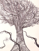 Sharpie Art Posters - Tree Poster by Bonnie Murphy