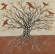 Raven Paintings - tree of Life by Sophy White
