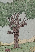 Tree Creature Drawings Prints - Treeant Print by Calvert Koerber