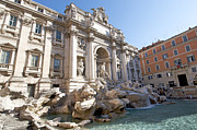 Statuary Framed Prints - Trevi Fountain. Rome Framed Print by Bernard Jaubert