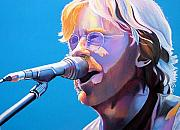Singer Drawings Framed Prints - Trey Anastasio Framed Print by Joshua Morton